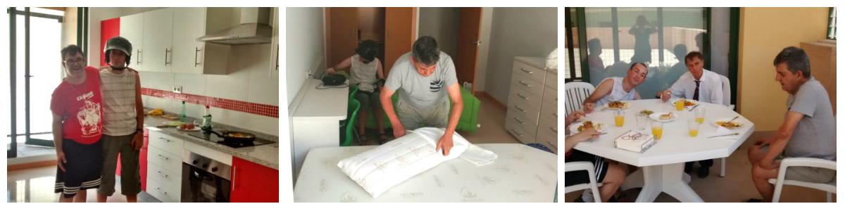 Primeros momentos de la vivienda tutelada Gómez Trénor.
