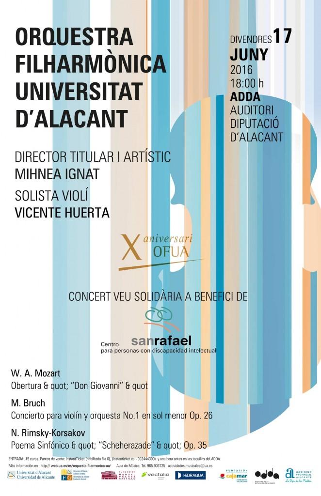 Cartel oficial del concierto solidario en favor del Centro San Rafael.