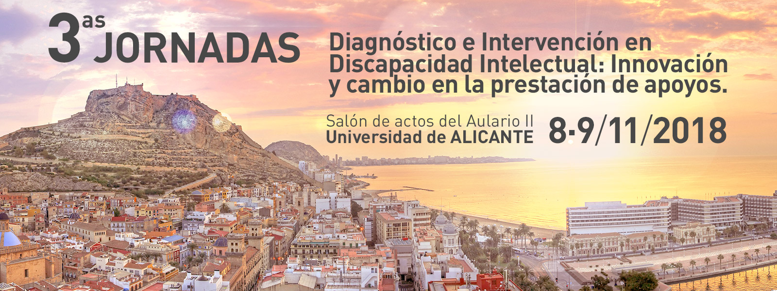 3as jornadas sobre Diagnóstico e Intervención en Discapacidad Intelectual: Innovación y cambio en la prestación de apoyos.